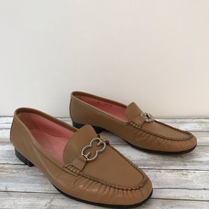 ESCADA - Saddle Brown Leather Loafers - Size 8